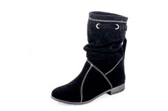 Boots. Women leather hand made Royalty Free Stock Image