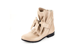 Boots. Women leather hand made Stock Image
