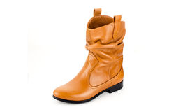 Boots. For women leather handmade Royalty Free Stock Photo