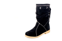 Boots. Women's boots with suede leather Royalty Free Stock Image