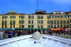 Bootsdock an Venedig-Damm Stockfotografie