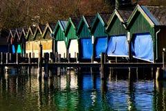 Bootshäuser上午看见 图库摄影