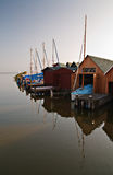 Bootshäuser Stockfoto