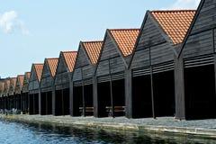 Bootshäuser Lizenzfreie Stockfotografie
