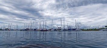 Bootshafen Stockfoto
