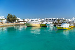 Bootshafen in Hurghada stockfotografie