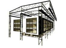 Bootshausbau Stockfoto