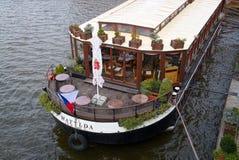Bootshotel und Restaurant Matylda Stockfotos