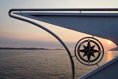 Bootskompaß lizenzfreies stockfoto