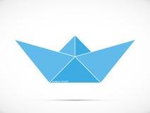 Bootslogo des blauen Papiers Lizenzfreies Stockfoto