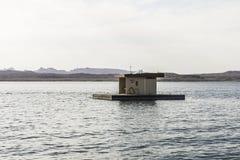 Bootspumpen-herausstation auf dem Lake Mead lizenzfreie stockfotos