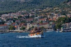 Bootsreise, Ansicht Kroatiens, Meer Lizenzfreies Stockbild