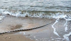 Bootssicherheitsseil auf dem Meer Lizenzfreie Stockfotos