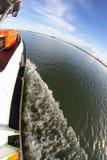 Bootveerboot voor het vervoeren van passagiers Stock Afbeelding