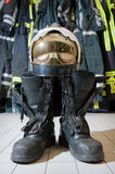 Bootz and helmet Royalty Free Stock Photography