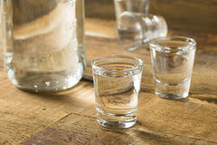 Boozy Alcoholic American Moonshine Shots Royalty Free Stock Photo