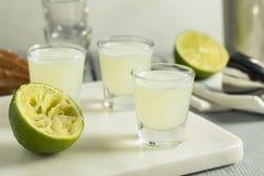 Boozy Lime  and Vodka Kamikaze Shots Stock Image