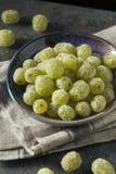 Boozy Sugared Prosecco Grapes. In a Bowl for Dessert Stock Photos