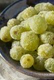 Boozy Sugared Prosecco Grapes. In a Bowl for Dessert Stock Image