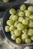 Boozy Sugared Prosecco Grapes. In a Bowl for Dessert Stock Images