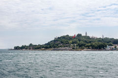 Bophorus Istanbul. The bosphorus canal and its historical buildings. Istanbul, Turkey Stock Photography