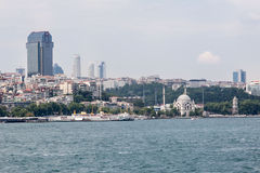 Bophorus Istanbul Dohlmabace Mosque Royalty Free Stock Photo