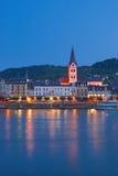 Boppard, el río Rhine, Alemania imagenes de archivo