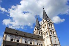 Boppard kościół, Rhine dolina, Niemcy Zdjęcia Royalty Free