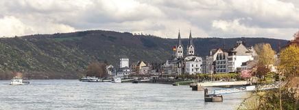 boppard and the rhine river germany Stock Photos