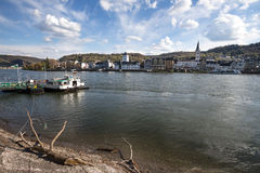 boppard and the rhine river germany Royalty Free Stock Photo