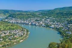 Boppard Rhine River, Tyskland Royaltyfri Foto
