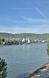 Boppard Rhine River, Tyskland Arkivfoton