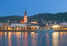 Boppard, Rhine rzeka, Niemcy obrazy royalty free