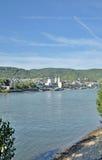 Boppard, Rhine rzeka, Niemcy Zdjęcia Stock