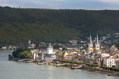 Boppard and river Rhine Stock Images