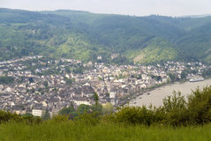 Boppard at the River Rhine Royalty Free Stock Images