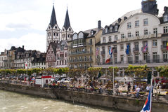 Boppard at the River Rhine Stock Photography