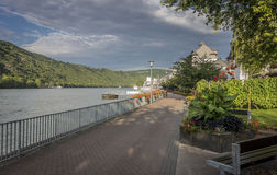 Boppard and the River Rhine, Germany Stock Photos