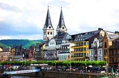 Boppard verschepende pijler royalty-vrije stock foto's