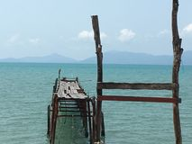 Boput old pier. `Boput old pier` In Koh Samui Suratthani, Thailand Stock Photos