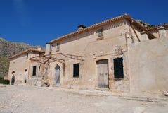 Boquer dolinni rolni budynki, Majorca obraz stock