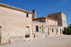 Boquer dolinni rolni budynki w Majorca obrazy royalty free