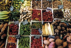 Boqueria in Barcelona 001 : FRUITS & VEGETABLE Royalty Free Stock Photo