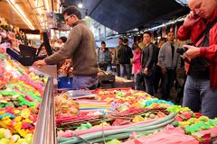 Boqueria, Barcelona Royalty Free Stock Photography