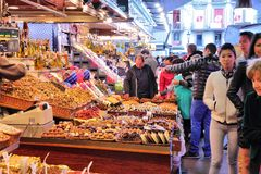 Boqueria, Barcelona Royalty Free Stock Photos