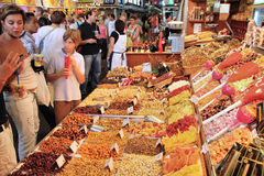 Boqueria market stock photo