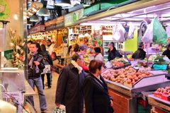 Boqueria market Royalty Free Stock Photography