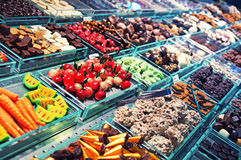 Boqueria Market in Barcelona. Royalty Free Stock Photo