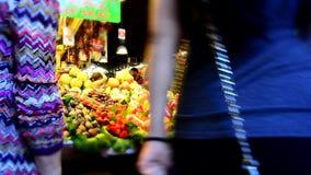 Boqueria Market, Barcelona stock footage