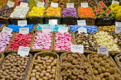 Boqueria Market at Barcelona, Spain Royalty Free Stock Images